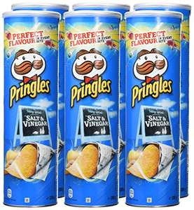 Pringles Salt and Vinegar Potato Crisps, 200 g, (Pack of 6) £6 Amazon - Prime exclusive