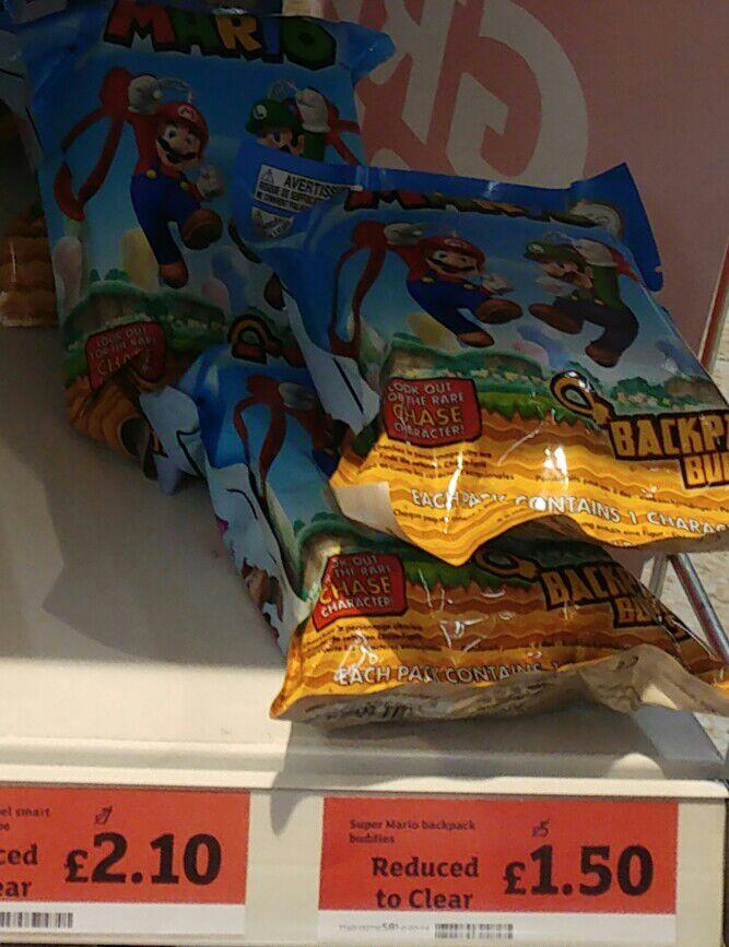 Super Mario Backpack Buddies - £1.50 instore @ Sainsbury's