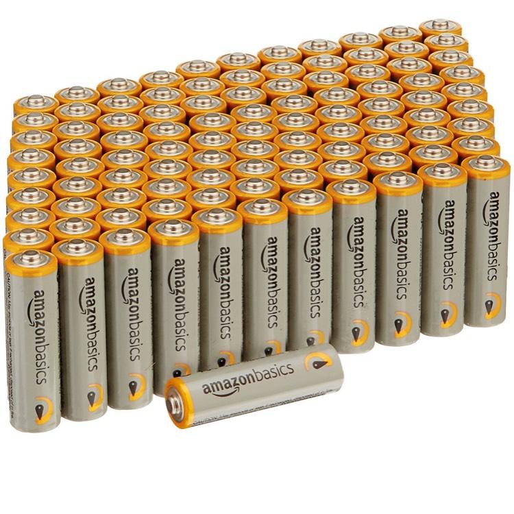 100 x Amazon Basics AA Performance Alkaline Batteries £17.26 Prime / £22.01 non prime