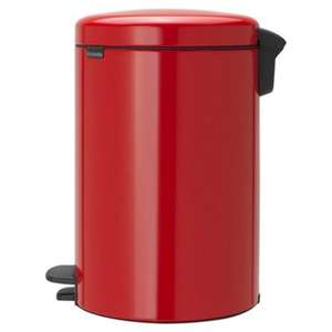 Brabantia New Icon Pedal Bin 20L, Red for £10 @ Tesco Direct (Free C&C)