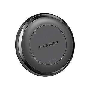 RAVPower Fast Wireless Charger for iPhone X / iPhone 8 / 8 Plus Qi Wireless Charging Pad for Galaxy S8 Note 8 and All Qi-Enabled Devices (QC 3.0 Adapter Included) - £23.99 @ Sold by Sunvalleytek / Fulfilled by Amazon