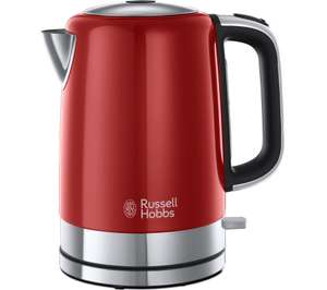 Russell Hobbs Windsor Jug Kettle - Red/Black/Cream + 3 year guarantee £19 @ Currys