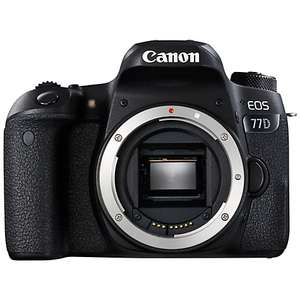 Canon 77D Camera Body only £614 (Possibly £529 after Cashback) @ John Lewis