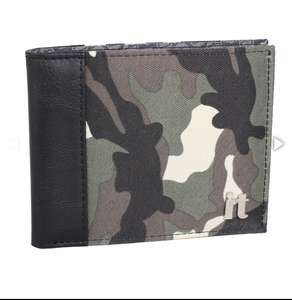 Mens camo wallet £3.50 with code + free delivery at Bags Etc