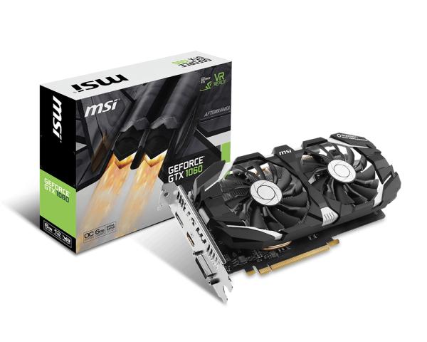 MSI GeForce GTX 1060 OC V1 6GB GDDR5 Graphics Card £229.98 -  Novatech