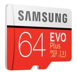 Samsung EVO Plus Micro SDXC UHS-I Card with Adapter - 64GB £19.59 -  PicStop