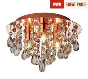 Argos Collection Ivy Glass Drop Ceiling Light - Copper £6.99