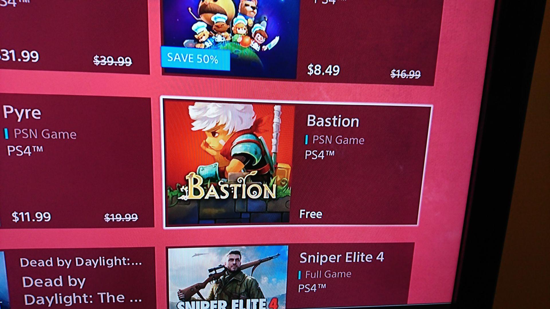Bastion Free on PSN (US) *Possible Glitch*