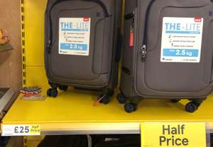 Lightweight 8 wheel cabin suitcase reduced half price free C+C £25 @ Tesco