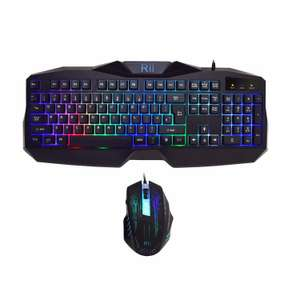 Rii RK400 Back lit keyboard and gaming mouse £16.99  (Prime) / £21.74 (non Prime)  Sold by B-B Buy and Fulfilled by Amazon - lightning deal