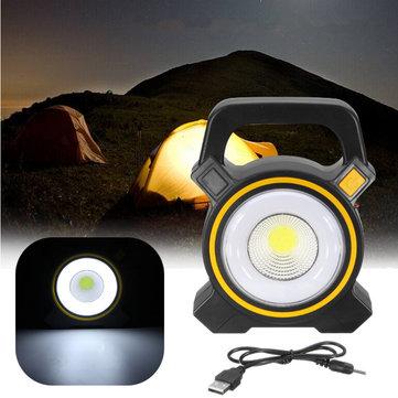 30W USB Rechargeable Solar COB LED Portable Flood Light £7.35 - Banggood