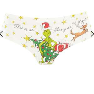 Topshop christmas grinch knickers 3 for £1 + free click & collect