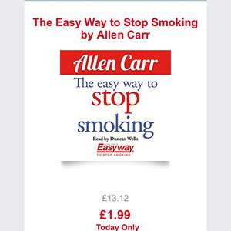 Easy way to stop smoking - Allen Carr £1.99 -  Audible UK