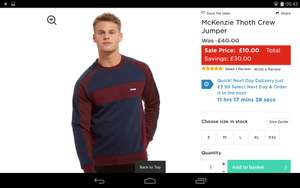 McKenzie Thoth Crew Jumper Was £40 Now £10. Free C & C Instore at JD Sports