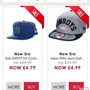 Kids & men's New Era baseball caps £4.79/£4.99 delivered at gtl get the label New York yankees / Dallas cowboys etc American football @ Get The Label