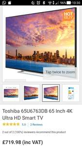 Toshiba 65 4k UHD TV 65U6763DB - £719.98 at Costco