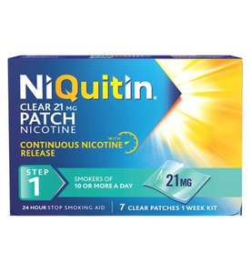 NiQuitin CQ 24 Hour Clear Patches - Steps 1,2&3 - £8.67 at Boots