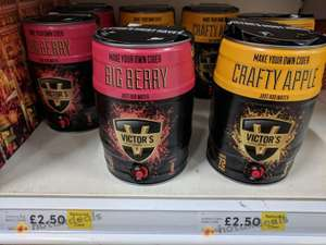 Victors Apple Cider & Mixed Berry Cider Homebrew Kits - £2.50 - Tesco In-store