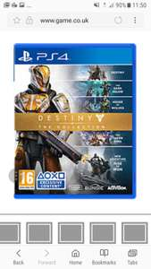 Destiny Collection PS4 (Pre Owned) £3.74 @ GAME