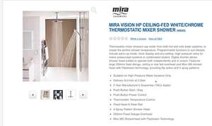Mira Vision Dual High Pressure Ceiling Digital Shower £198 @ Argos