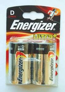 Twin Pack Energizer  Batteries size d and c £1 @ plumbcentre