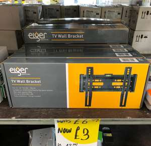 "Eiger TV Wall Bracket 14"" - 42"" £3 @ Homebase Instore only"