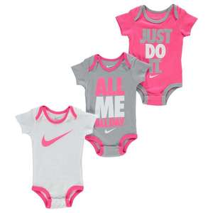 Nike Bodysuits 3 Pack Baby (Pink) £4.99 / £9.98 delivered @ Sports direct