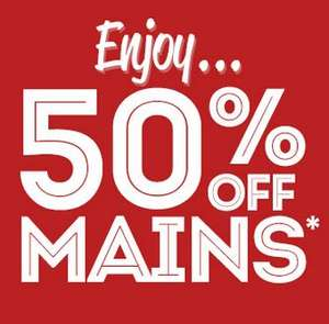 Frankie & Bennies 50% off mains