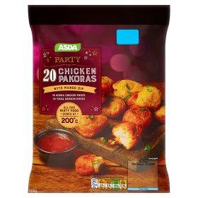 ASDA Party 20 Chicken Pakoras with Mango Dip (350g) New Price £1.75 @ Asda