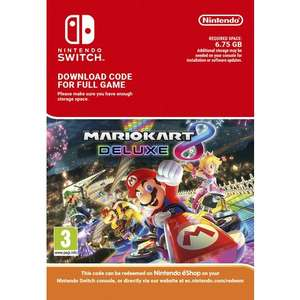 Mario Kart 8 Deluxe Digital Version (Sold Out CD Keys) £44.99 @ Smyths toys