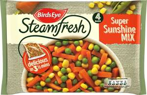 Birds Eye Steamfresh Super Sunshine Mix (4 Bags = 540g) / Birds Eye Steamfresh Family Favourite Mix (4 Bags = 540g) was £2.00 now ONLY £1.39 @ Iceland