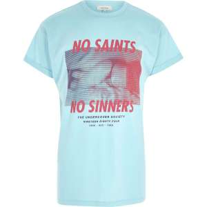Green 'no saints' photograph print T-shirt. Other styles and colours also £2 @ River island - Free c&c