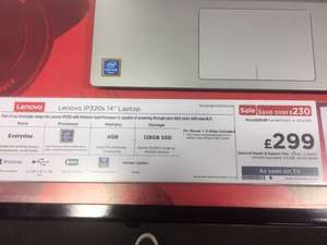 "Lenovo IP320s 14"" Laptop £299 PC World Instore Rotherham"