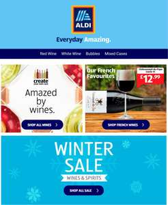 Aldi winter sale including Whisky gift sets from £2.49 free delivery at Aldi