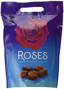 Cadbury Roses Chocolate Pouch, 450 g, Pack of 6 £12 prime / £16.75 non prime @ Amazon