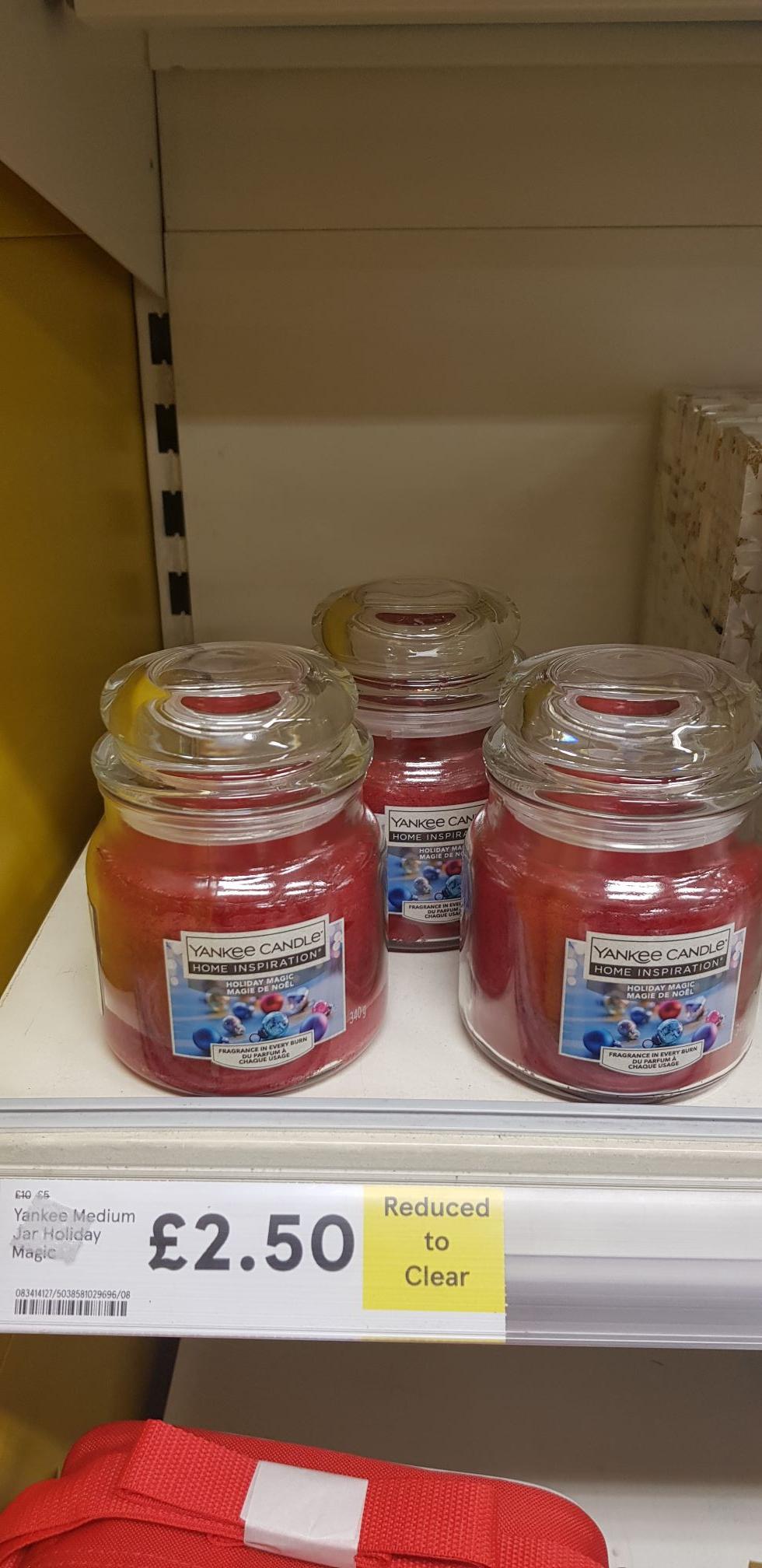 Yankee Medium Jar Holiday Magic £2.50 at Tesco (In Store)