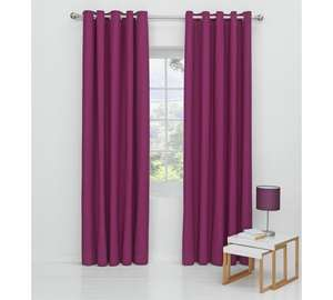 ColourMatch Blackout Eyelet Curtains - 117x137cm - Grape @ Argos £7.49
