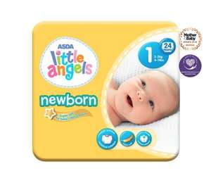 Pack of 24 Little Angels Nappies £1 from Asda
