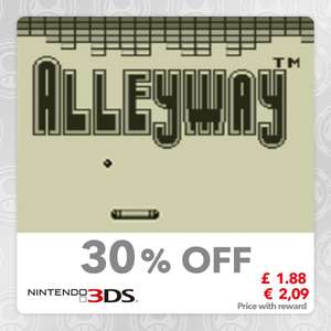 Alleyway (Virtual console-GB) 3DS (40 Platinum) @ Mynintendo