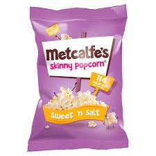 Metcalfes Popcorn All Flavours 25p using Checkout Smart App at Tesco and Tesco.com (£1 before cashback)