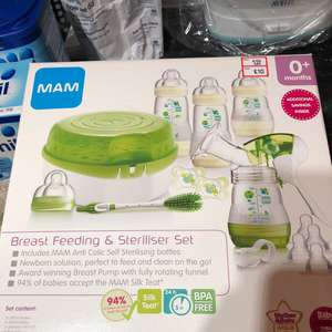 Mam breastfeeding & steriliser set £10 @ Mothercare