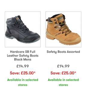 Jtf - Workboots. Up to £40 discount - £12.99