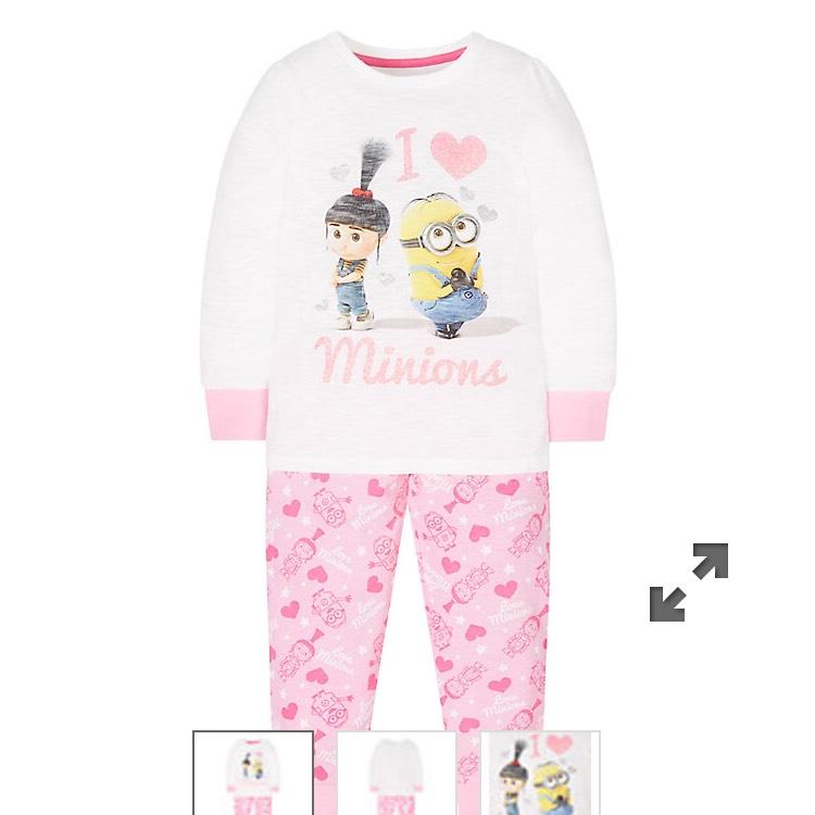 Mothercare I love minions pyjamas £4