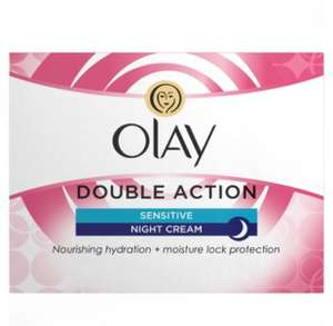 Olay Double Action Night Cream Sensitive 50ml was £4.79 now £1.91