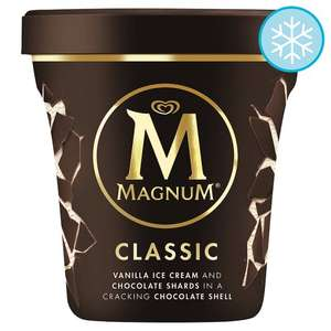 Magnum Tub (440ml) - Classic, White or Almond Ice Cream was £3.85 now £2.50 @ tesco