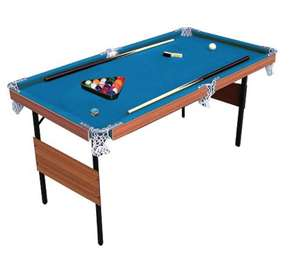 4ft 6inch 2-in-1 Snooker and Pool Table + 2x cues + Snooker Ball Set + 6 Yellow balls for pool + 2x Chalk + Table Brush = £30 @ Tesco Direct