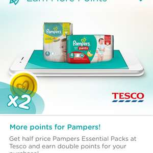 Half price pampers at tesco and double pampers points with pampers club