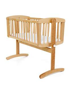 MOTHERCARE - Swinging Crib - Natural (£35) FREE C & C