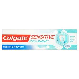 Colgate Sensitive Pro-Relief Repair & Prevent Toothpaste75ml £1.75 @ Waitrose