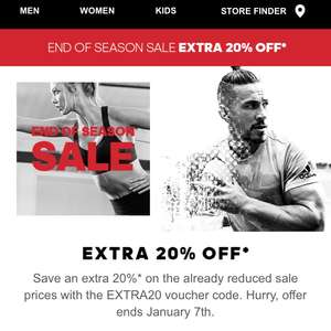 Extra 20 percent off adidas sale
